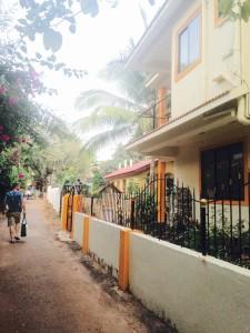 A short walk to Candolim Main Street