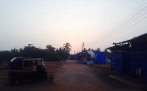 Sunrise over sleeping Goa